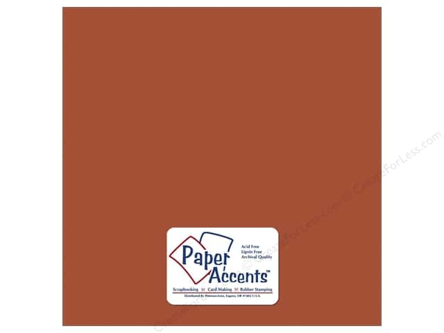 Cardstock 12 x 12 in. Smooth Cinnamon by Paper Accents (25 sheets)