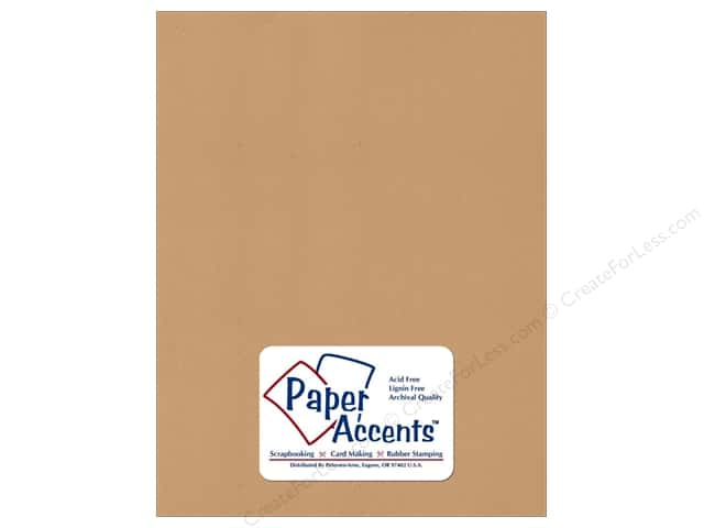 Paper Accents Cardstock 8 1/2 x 11 in. #371 Recycled Dark Kraft (25 sheets)