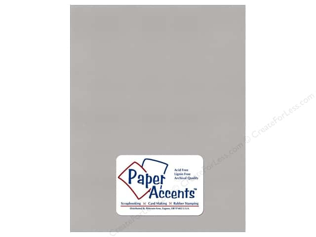 Cardstock 8 1/2 x 11 in. Recycled Glacier Grey by Paper Accents (25 sheets)