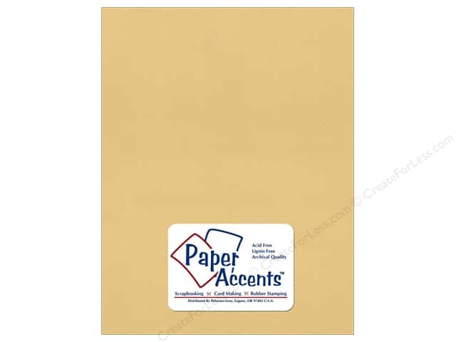 Cardstock 8 1/2 x 11 in. Recycled Wheat by Paper Accents (25 sheets)