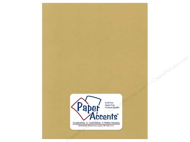 Cardstock 8 1/2 x 11 in. Recycled Dijon by Paper Accents (25 sheets)