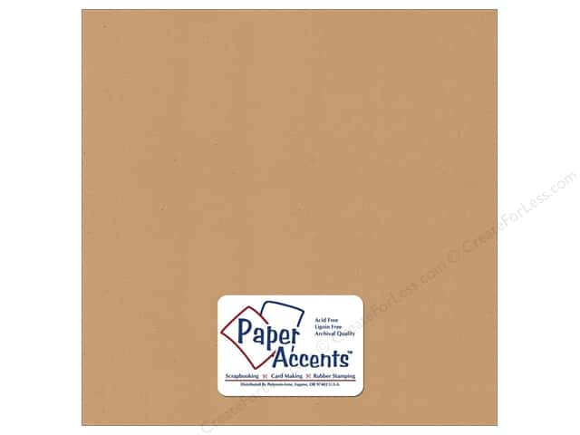 Cardstock 12 x 12 in. Recycled Dark Kraft by Paper Accents (25 sheets)