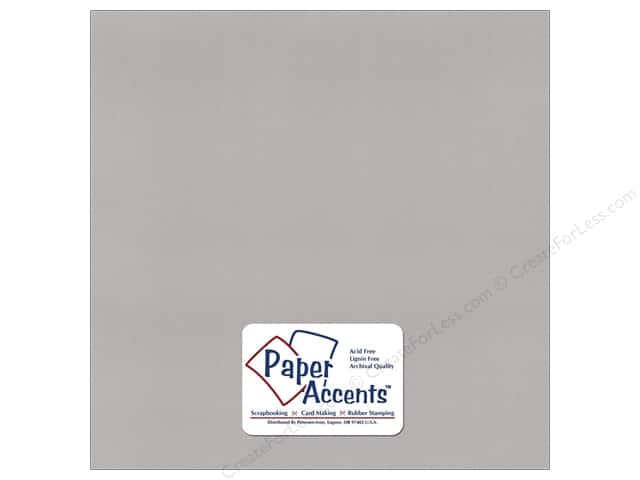 Paper Accents Cardstock 12 x 12 in. #372 Recycled Glacier Grey (25 sheets)