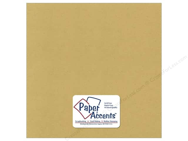 Cardstock 12 x 12 in. Recycled Dijon by Paper Accents (25 sheets)