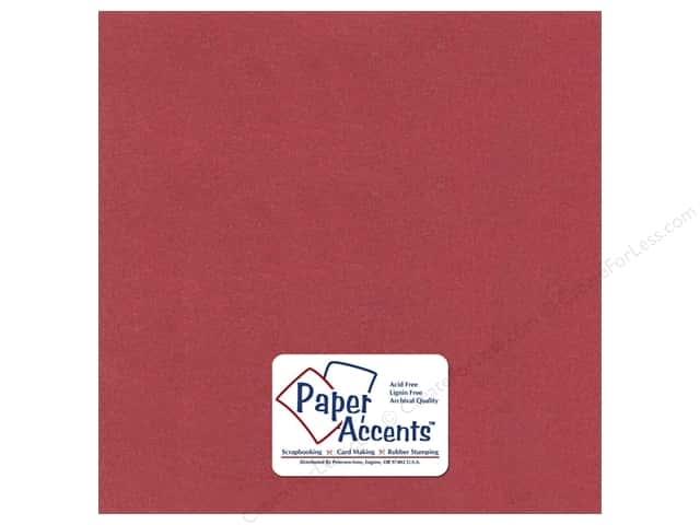 Paper Accents Pearlized Paper 12 x 12 in. #8862 Marsala (25 sheets)