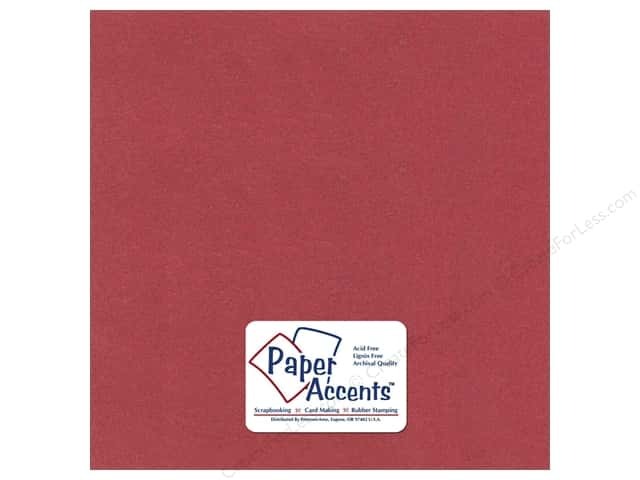 Cardstock 12 x 12 in. Pearlized Marsala by Paper Accents (25 sheets)