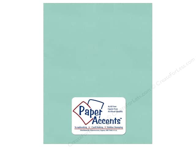 Pearlized Paper 8 1/2 x 11 in. Frosted Teal by Paper Accents (25 sheets)