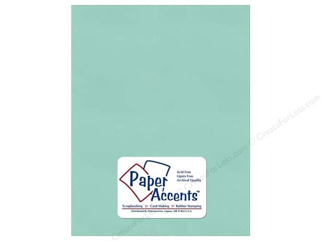 Cardstock 8 1/2 x 11 in. Pearlized Frosted Teal by Paper Accents (25 sheets)