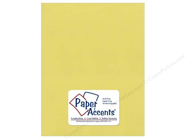 Paper Accents Cardstock 8 1/2 x 11 in. #8863C Pearlized Celery (25 sheets)