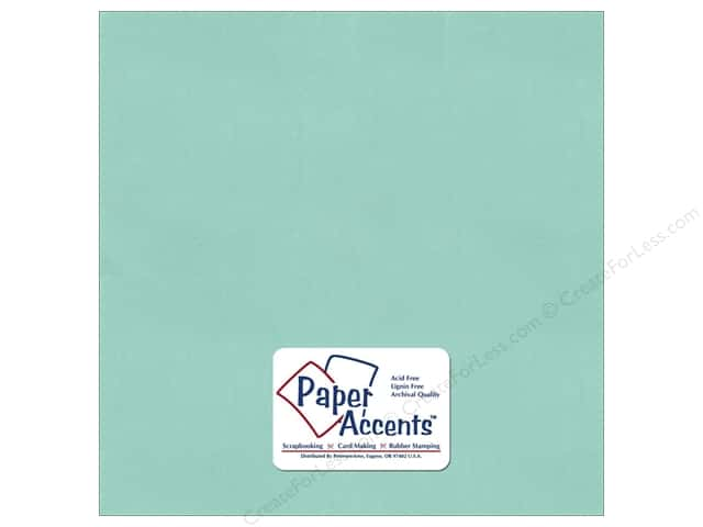 Cardstock 12 x 12 in. Pearlized Frosted Teal by Paper Accents (25 sheets)