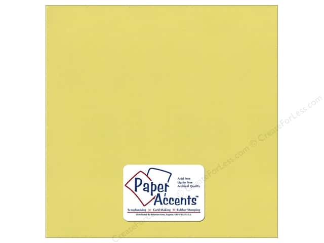 Pearlized Paper 12 x 12 in. Celery by Paper Accents (25 sheets)