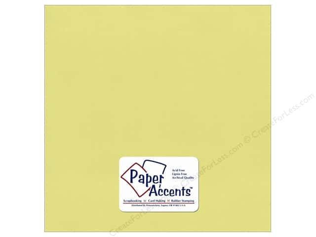 Cardstock 12 x 12 in. Pearlized Celery by Paper Accents (25 sheets)