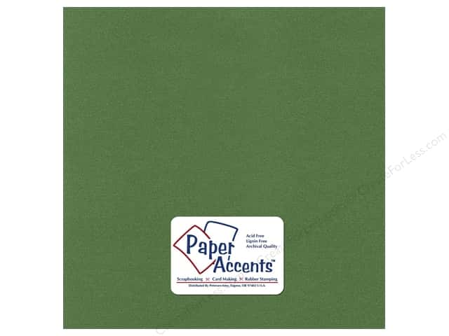 Pearlized Paper 12 x 12 in. Cilantro by Paper Accents (25 sheets)