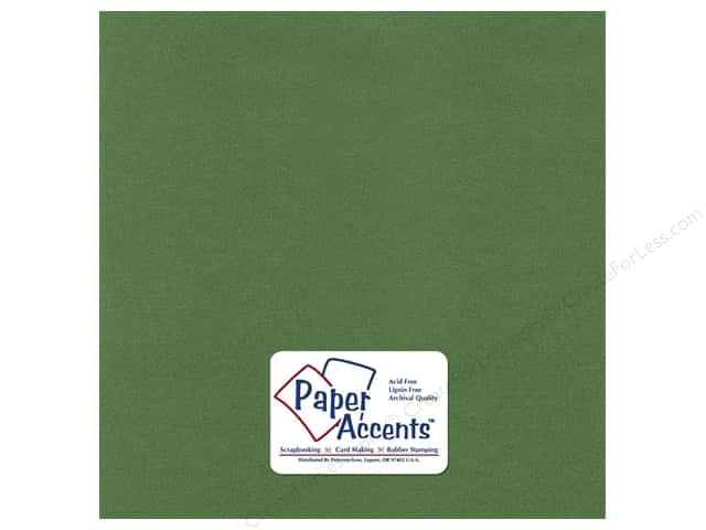 Cardstock 12 x 12 in. Pearlized Cilantro by Paper Accents (25 sheets)