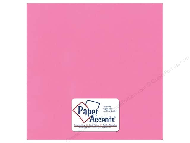 Cardstock 12 x 12 in. Stash Builder Strawberry Ice by Paper Accents (25 sheets)