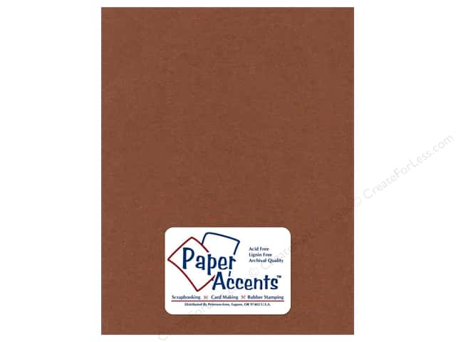 Cardstock 8 1/2 x 11 in. Textured Hot Chocolate by Paper Accents (25 sheets)