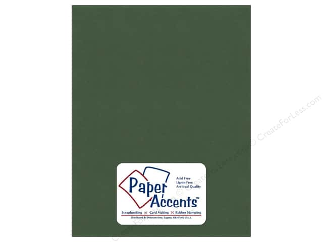 Cardstock 8 1/2 x 11 in. Textured Emerald by Paper Accents (25 sheets)