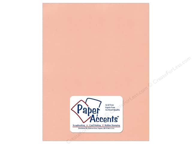 Cardstock 8 1/2 x 11 in. Textured Peach Sorbet by Paper Accents (25 sheets)