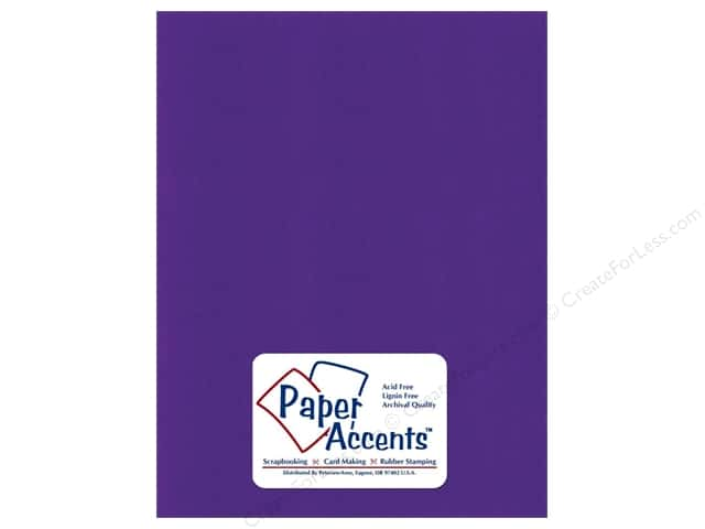 Paper Accents Cardstock 8 1/2 x 11 in. #6172 Textured Blue Violet (25 sheets)