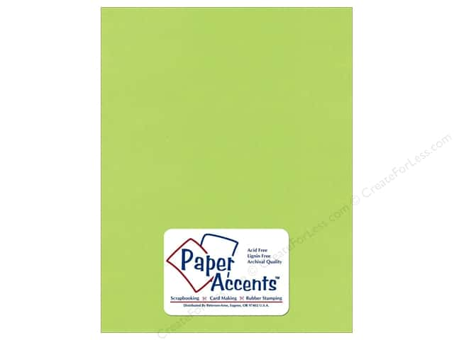 Cardstock 8 1/2 x 11 in. Textured Kiwi by Paper Accents (25 sheets)