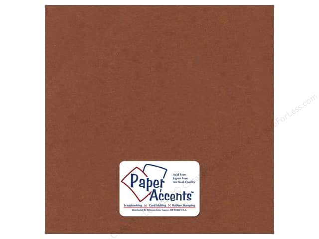 Cardstock 12 x 12 in. Textured Hot Chocolate by Paper Accents (25 sheets)
