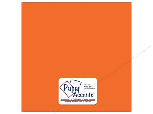Cardstock 12 x 12 in. Textured Carrot by Paper Accents (25 sheets)