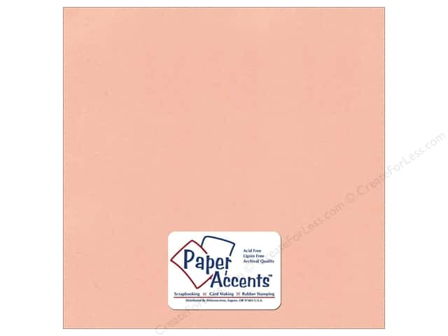Cardstock 12 x 12 in. Textured Peach Sorbet by Paper Accents (25 sheets)