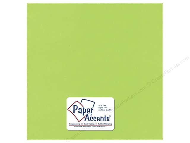Cardstock 12 x 12 in. Textured Kiwi by Paper Accents (25 sheets)