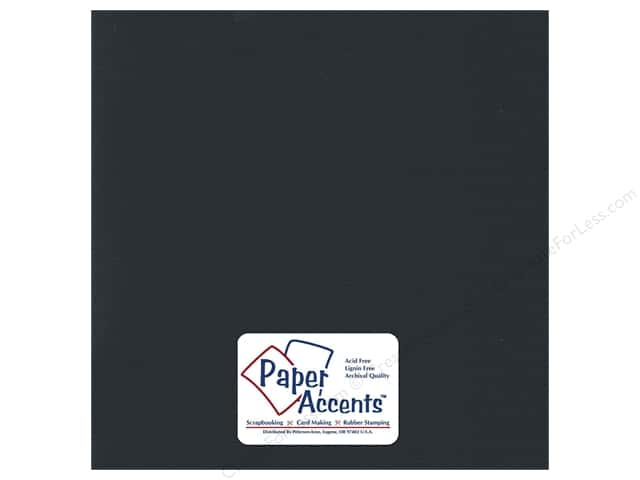 Paper Accents Cardstock 12 x 12 in. #736 Textured Blackened Bleu (25 sheets)