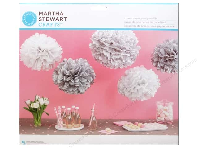 Martha Stewart Kit Pom Pom Patterned Silver