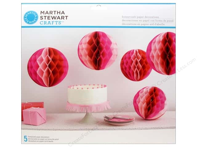 Martha Stewart Decorative Honeycomb Ombre Pink