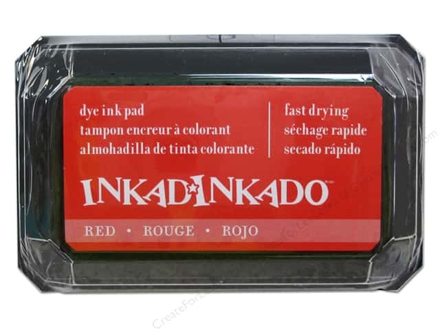 Inkadinkado Dye Ink Pad Red