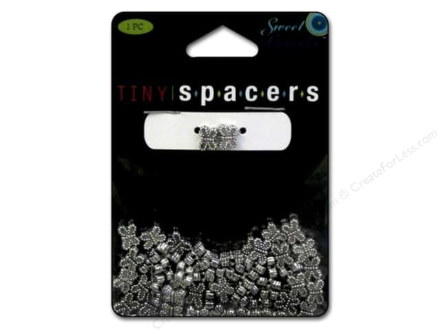 Sweet Beads Tiny Spacers Dot Butterfly 5 x 7 mm 60 pc. Silver