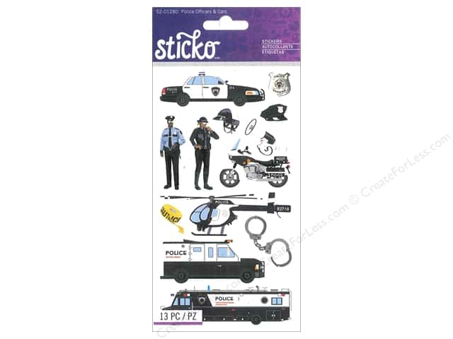 EK Sticko Stickers Police Officer & Cars