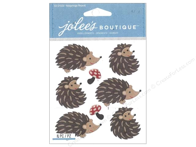 Jolee's Boutique Stickers Repeats Hedgehogs