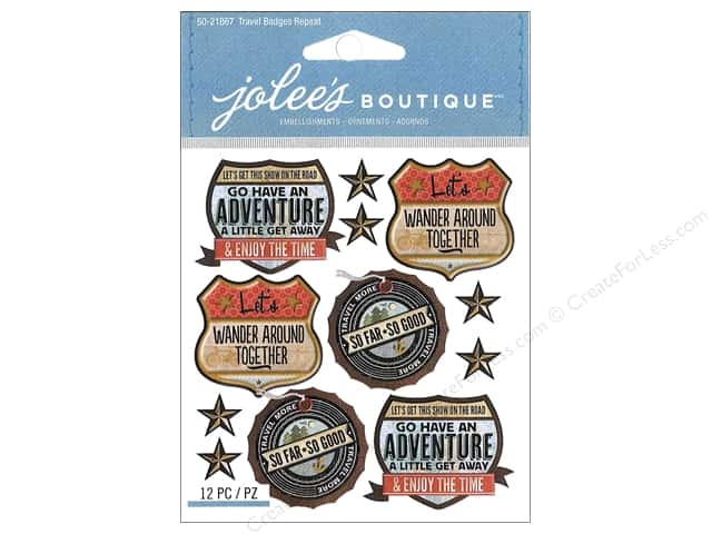 Jolee's Boutique Stickers Travel Badges Repeats