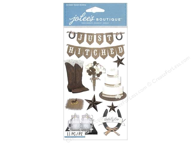 Jolee's Boutique Stickers Western Wedding