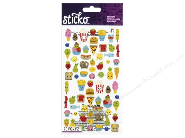 EK Sticko Stickers Mini Food Characters