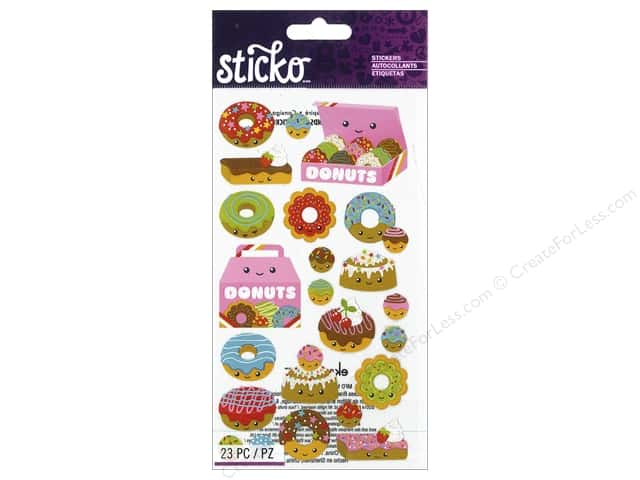 EK Sticko Stickers Donut Characters