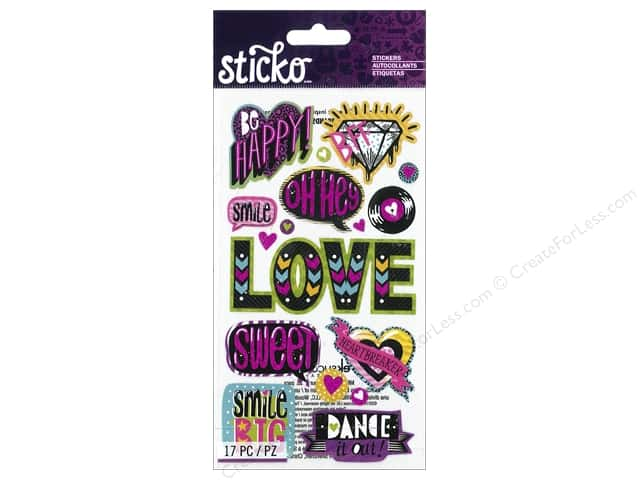 EK Sticko Stickers Girly Words & Icons