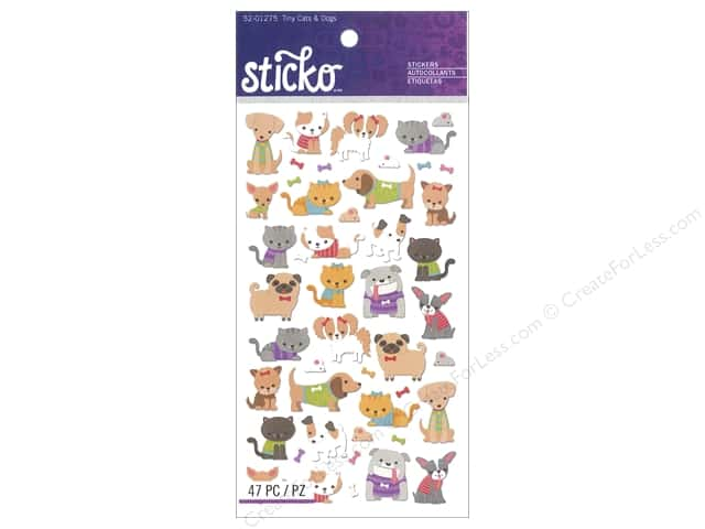 EK Sticko Stickers Tiny Cats & Dogs