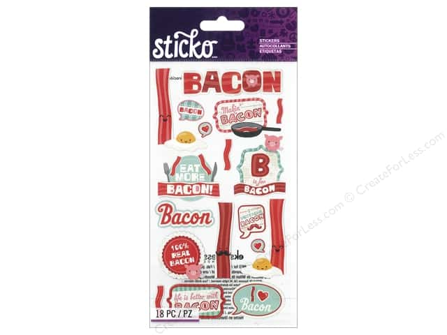 EK Sticko Stickers Bacon