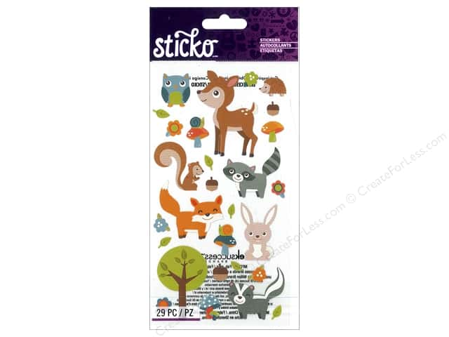 EK Sticko Stickers Woodland Animals