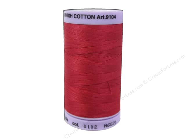 Mettler Silk Finish Cotton Thread 50 wt. 547 yd. #0102 Poinsettia