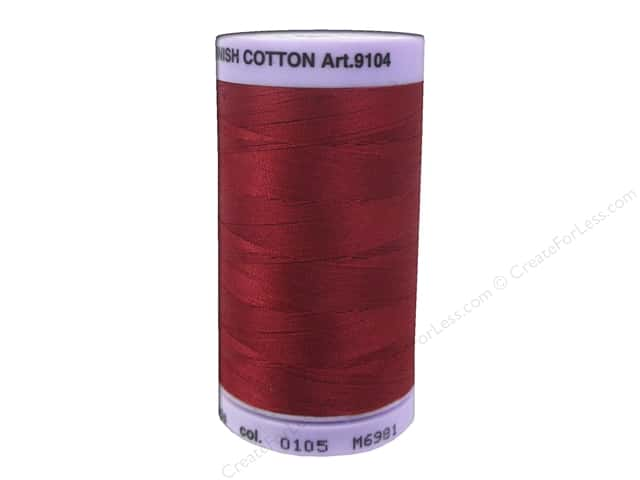 Mettler Silk Finish Cotton Thread 50 wt. 547 yd. #0105 Fire Engine