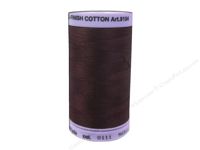Mettler Silk Finish Cotton Thread 50 wt. 547 yd. #0111 Beet Red