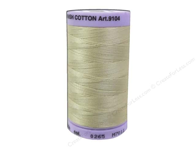 Mettler Silk Finish Cotton Thread 50 wt. 547 yd. #0265 Ivory