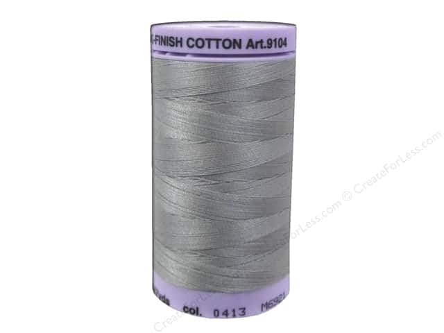 Mettler Silk Finish Cotton Thread 50 wt. 547 yd. #0413 Titan Gray