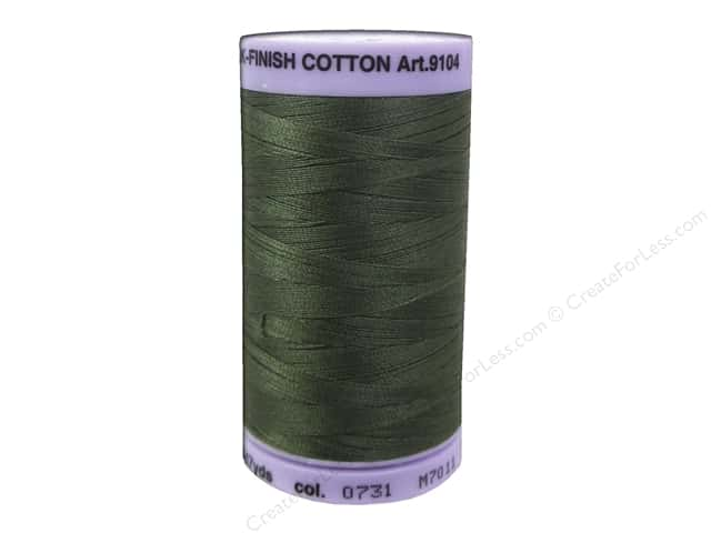 Mettler Silk Finish Cotton Thread 50 wt. 547 yd. #0731 Burnt Olive
