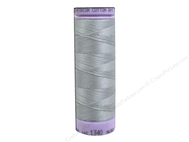 Mettler Silk Finish Cotton Thread 50 wt. 164 yd. #1340 Silvery Gray